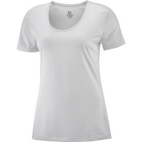 Salomon Agile Koszulka z krótkim rękawem Kobiety, wht/oyster mu/heather